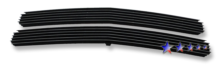 Chevrolet Full Size Pickup  1994-1999 Black Powder Coated Main Upper Black Aluminum Billet Grille