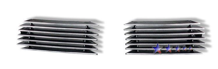 Chevrolet Silverado 1500 1999-2002 Polished Tow Hook Aluminum Billet Grille