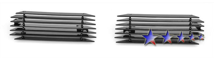 Chevrolet Silverado 1500 1999-2002 Black Powder Coated Main Upper Black Aluminum Billet Grille