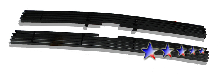 Chevrolet S-10 Pickup  1991-1992 Black Powder Coated Main Upper Black Aluminum Billet Grille