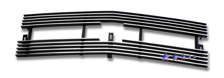 Chevrolet S-10 Pickup  1998-2004 Polished Main Upper Aluminum Billet Grille