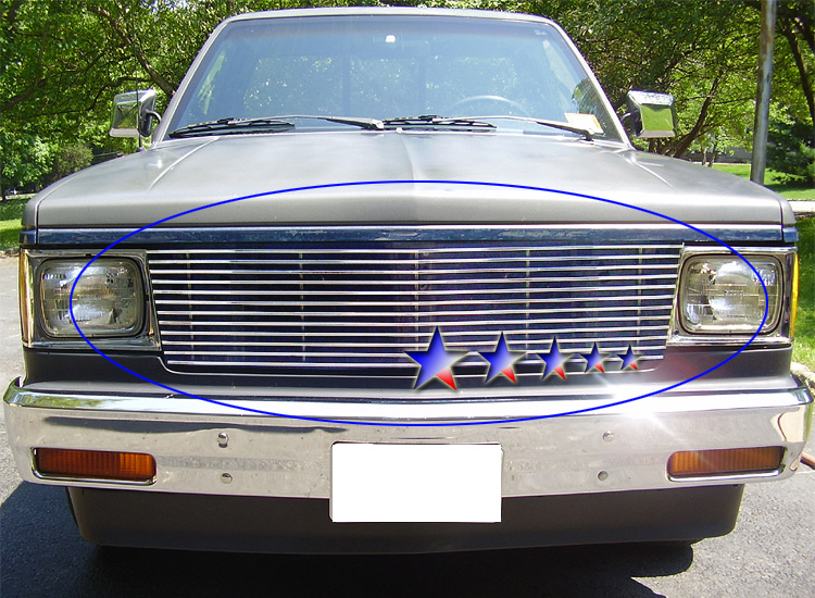Chevrolet S-10 Pickup  1998-2004 Polished Main Upper Stainless Steel Billet Grille
