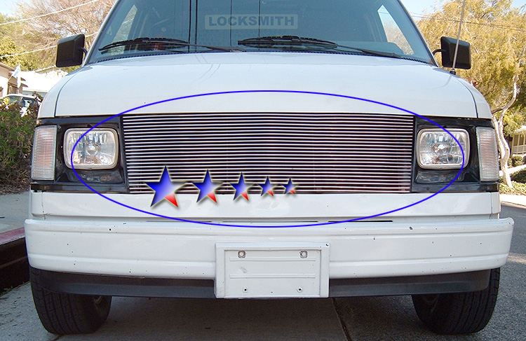 Chevrolet Astro  1985-1994 Polished Main Upper Aluminum Billet Grille