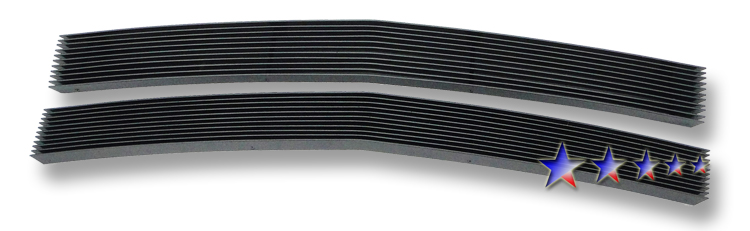 Chevrolet Astro  1995-2005 Black Powder Coated Main Upper Black Aluminum Billet Grille