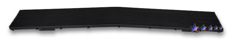 Chevrolet Blazer  1988-1988 Black Powder Coated Main Upper Black Aluminum Billet Grille