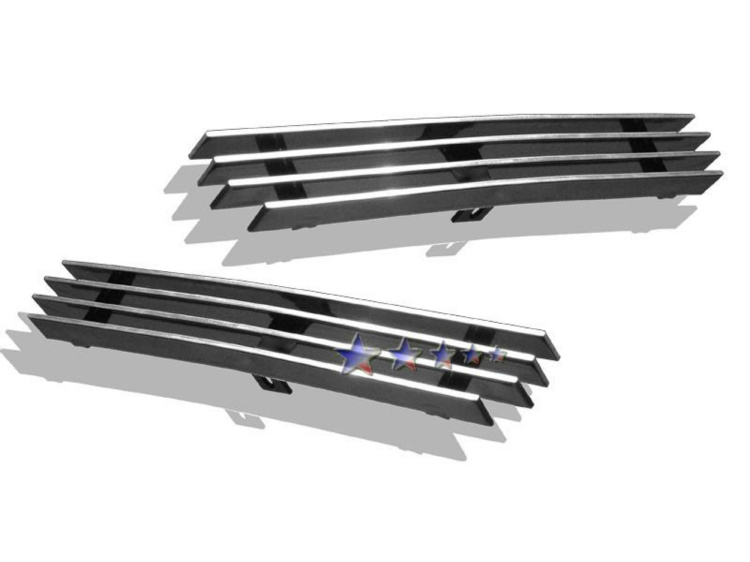 Chevrolet Silverado 3500 2003-2006 Polished Top Bumper Aluminum Billet Grille