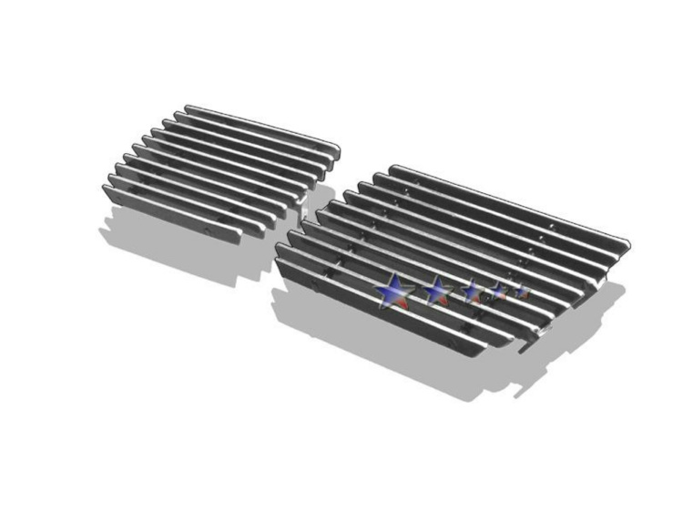 Chevrolet Silverado 3500 2003-2006 Polished Tow Hook Aluminum Billet Grille
