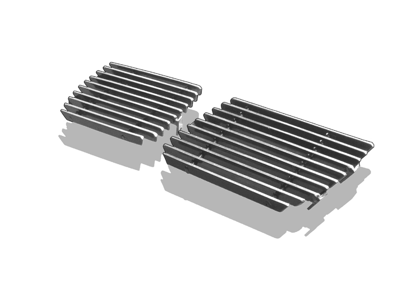 Chevrolet Silverado 3500 2003-2006 Polished Tow Hook Stainless Steel Billet Grille