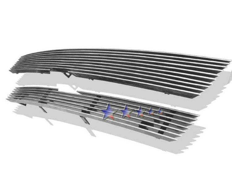 Chevrolet Trailblazer SS 2002-2005 Polished Main Upper Aluminum Billet Grille