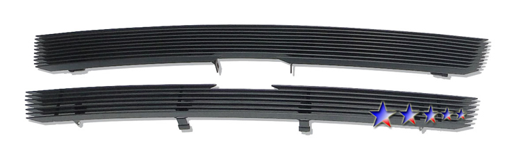 Chevrolet Trailblazer SS 2002-2005 Black Powder Coated Main Upper Black Aluminum Billet Grille