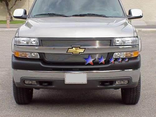 Chevrolet Silverado 2500/3500 2001-2002 Black Powder Coated Main Upper Black Aluminum Billet Grille