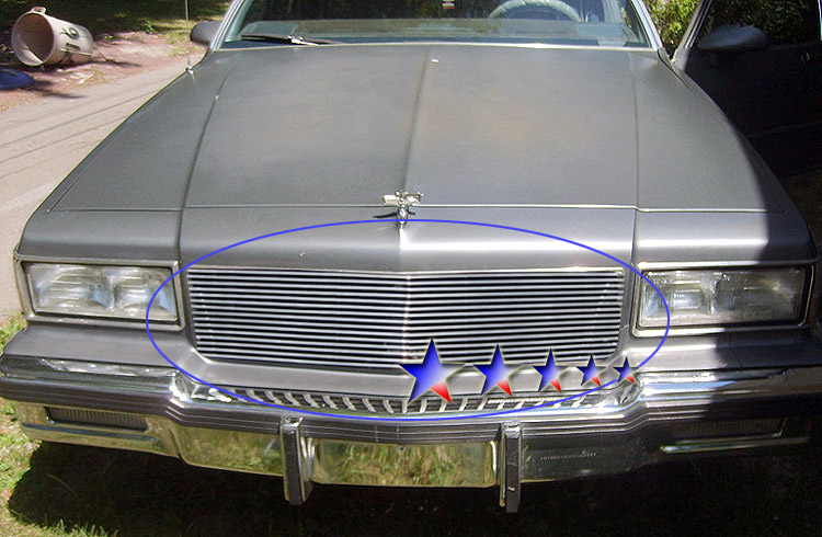 Chevrolet Caprice  1986-1990 Black Powder Coated Main Upper Black Aluminum Billet Grille