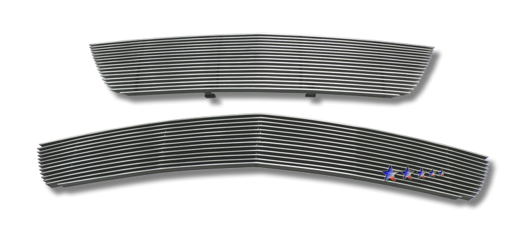 Chevrolet Malibu Lt 2006-2007 Black Powder Coated Main Upper + Lower Bumper Black Aluminum Billet Grille