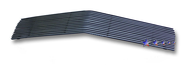 1978-1981 Chevrolet Camaro  Black Powder Coated Black Aluminum Billet Grille - Main Upper
