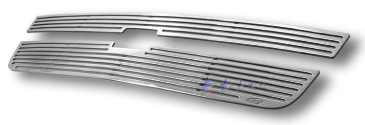 Chevrolet Silverado 3500 2005-2006 Polished Main Upper Perimeter Grille