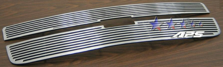 Chevrolet Avalanche  2001-2006 Polished Main Upper Perimeter Grille