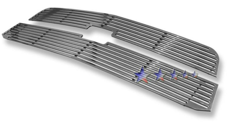 Chevrolet Avalanche  2003-2006 Polished Main Upper Perimeter Grille