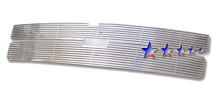 Chevrolet Silverado 3500 Hd 2007-2010 Polished Main Upper Perimeter Grille