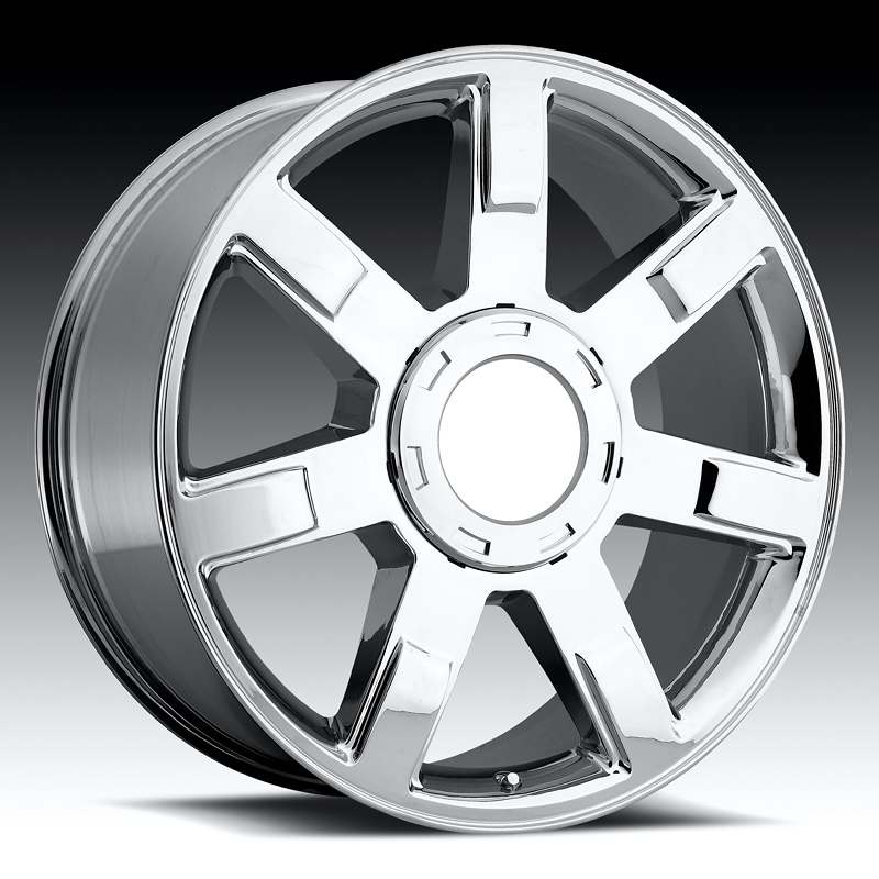 Cadillac Escalade 2007-2009 22x9 Chrome Factory Replacement Wheels- 4 Piece Set