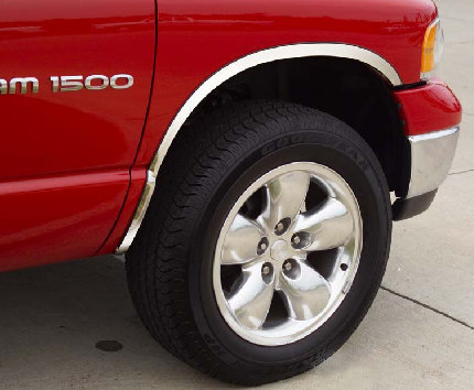 Ford F150 2004-2008 Stainless Steel Fender Trim W/O Flares - Long