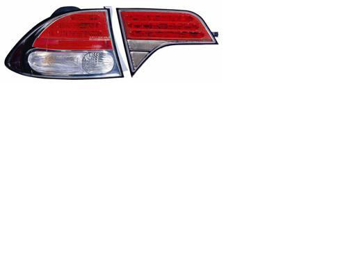 Honda Civic 2006-2007 Chrome Euro Tail Lights
