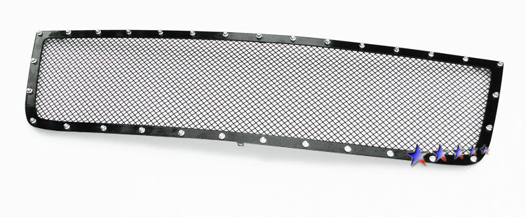 Chevrolet Silverado 3500 Hd 2005-2006 Black Powder Coated Main Upper Rivet Grille