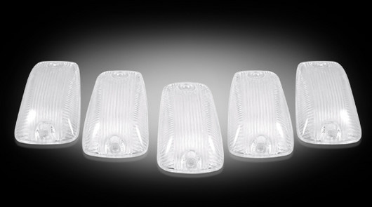 GMC Sierra 1988-2002 CLEAR LED Cab Lights (5 Piece set)