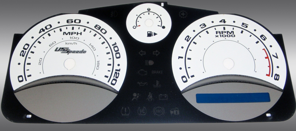Chevrolet Cobalt 2005-2009 Base And Ls White / Blue Night Performance Dash Gauges