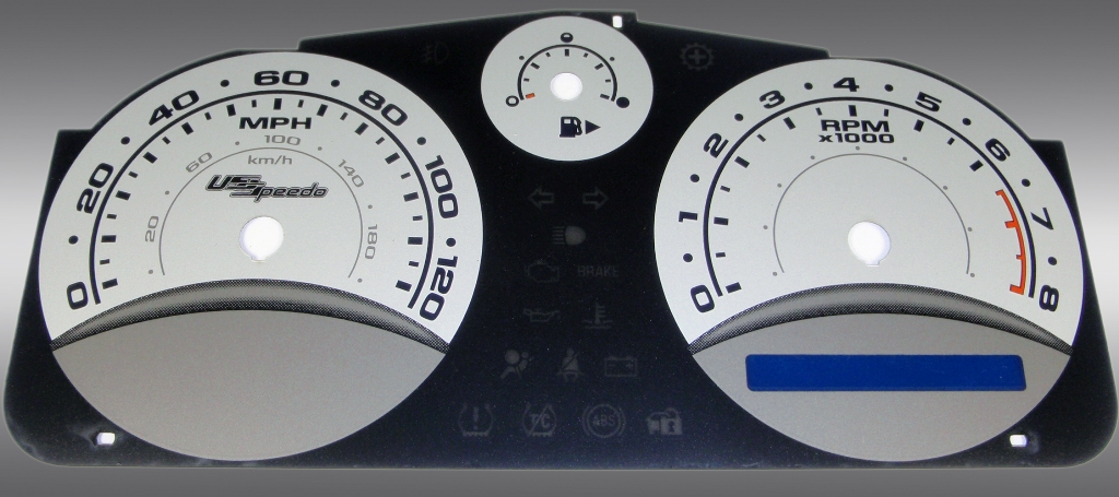 Chevrolet Cobalt 2005-2009 Base And Ls Silver / Blue Night Performance Dash Gauges