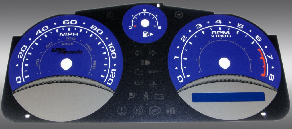 Chevrolet Cobalt 2005-2009 Base And Ls Blue / Blue Night Performance Dash Gauges