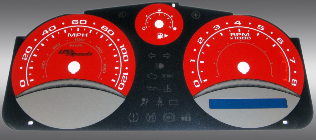 Chevrolet Cobalt 2005-2009 Base And Ls Red / Blue Night Performance Dash Gauges
