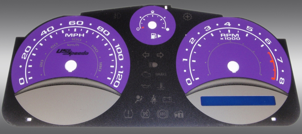 Chevrolet Cobalt 2005-2009 Base And Ls Purple / Blue Performance Dash Gauges