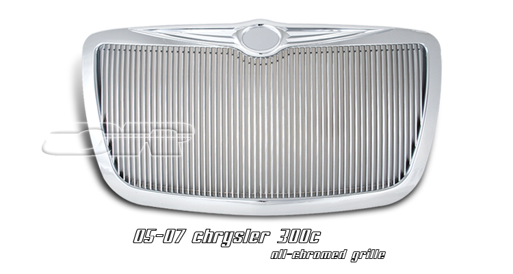 Chrysler 300c 2005-2007  Vertical Style Front Grill