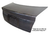 1992 Honda Civic 2 Door  OEM Style Carbon Fiber Trunk Lid