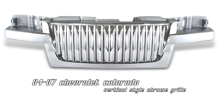 Chevrolet Colorado 2004-2008  Vertical Style Chrome Front Grill
