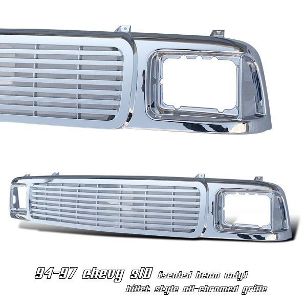Gmc Sonoma 1994-1997  Billet / Sealed Beam Only Front Grill