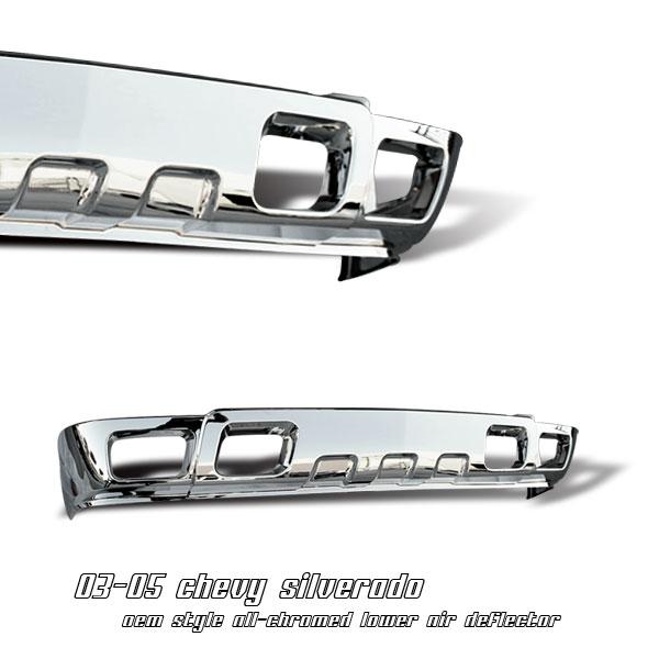 Chevrolet Silverado 2003-2005  L. Air Deflector W/Fog Lm Front Grill