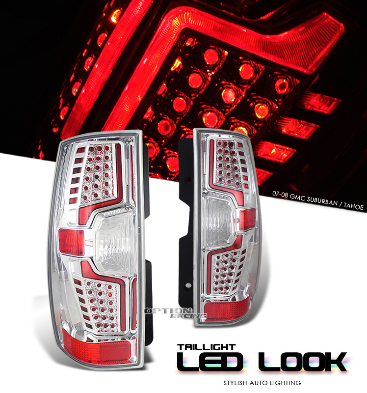Chevrolet Suburban 2007-2008  Chrome Euro Tail Lights