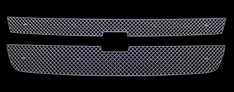 Chevrolet Silverado 3500 2007-2007 Chrome Main Upper X Mesh Grille