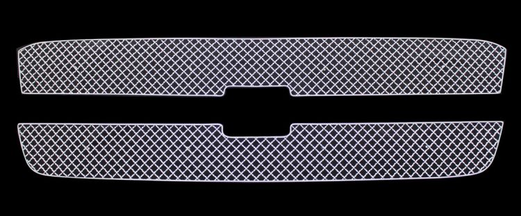 Chevrolet Silverado 3500 2003-2004 Chrome Main Upper X Mesh Grille