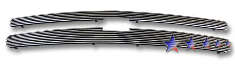 Chevrolet Silverado 1500 2007-2012 Chrome Surface With Black Paint Main Upper X Mesh Grille
