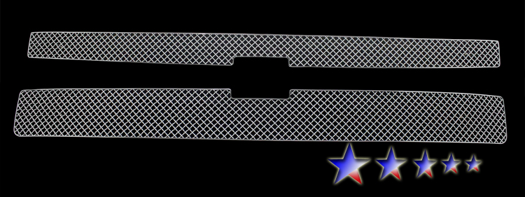 Chevrolet Silverado 3500 Hd 2011-2012 Chrome Main Upper X Mesh Grille