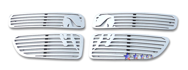 Dodge Stratus  2001-2003 Polished Main Upper Symbolic Grille