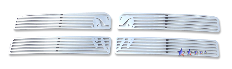 Dodge Ram  1994-2001 Polished Main Upper Symbolic Grille