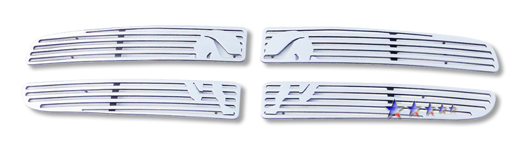Dodge Durango  1997-2003 Polished Main Upper Symbolic Grille