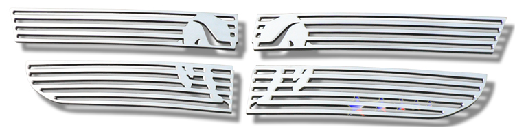 Dodge Avenger Sxt 2007-2010 Polished Main Upper Symbolic Grille