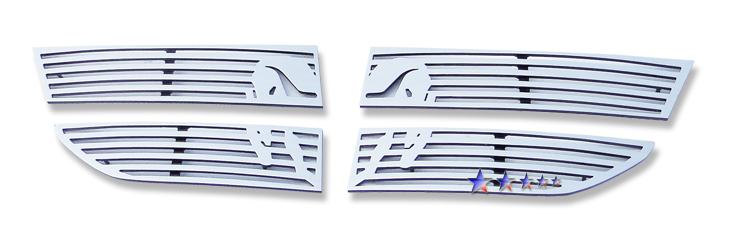 Dodge Journey Sxt 2009-2010 Polished Main Upper Symbolic Grille