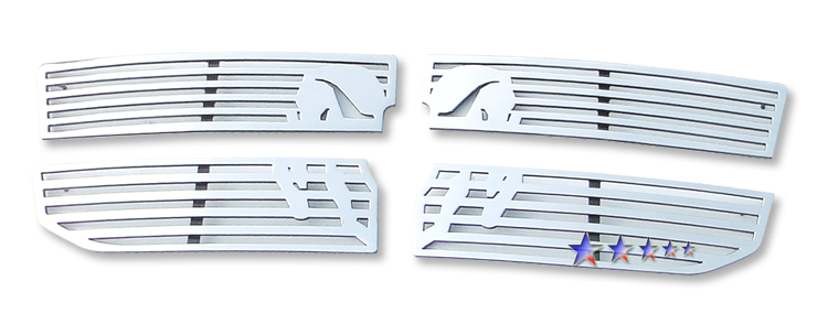 Dodge Dakota  2008-2011 Polished Main Upper Symbolic Grille