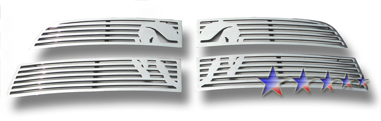 Dodge Ram 3500 2010-2012 Polished Main Upper Symbolic Grille