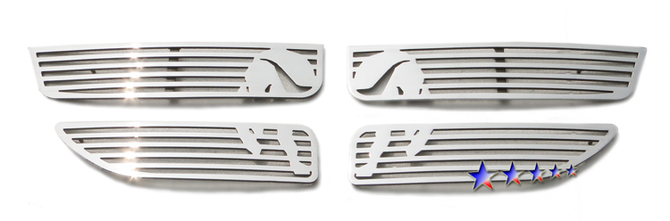 Dodge Caravan  2011-2012 Polished Main Upper Symbolic Grille